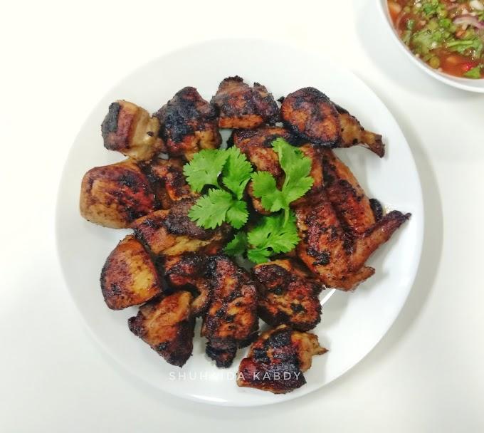 Resepi Ayam Meraung Bakar Thai