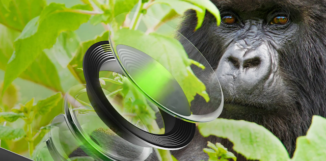 Scratch-resistant Corning Glass protects your smartphone cameras with Gorilla Glass DX.