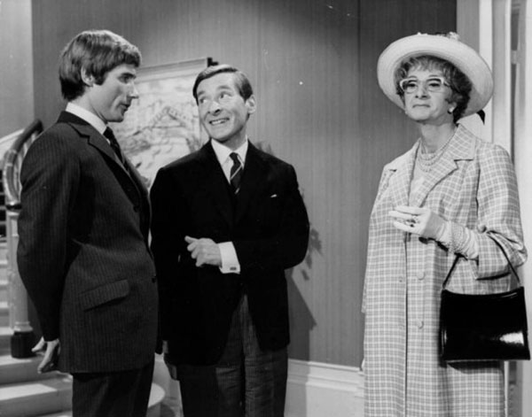 Charles Hawtrey femulating in the 1969 British film Carry On Again Doctor.
