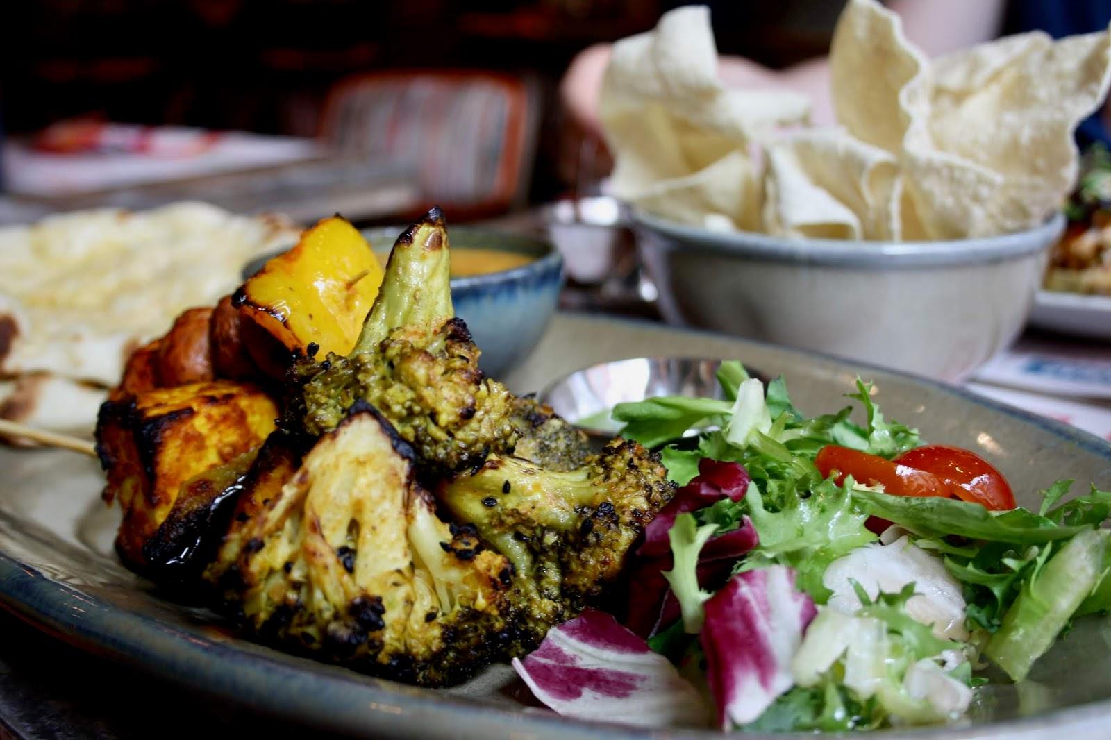 Veggie Heaven dish at Tamatanga, featuring achari broccoli
