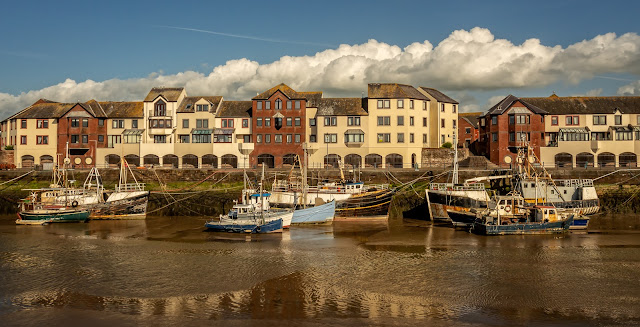 Photo of Maryport Harbour basking in the sunshine