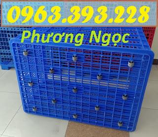 Sóng nhựa rỗng HS015, sọt nhựa đựng hàng 26 bánh xe, sọt nhựa kích thước lớn 26bx4