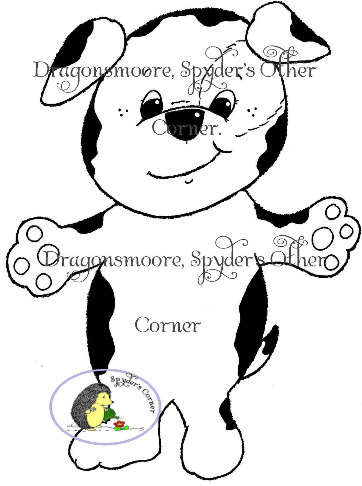 Dragonsmoore Digital Stamps Spyder S Other Corner March