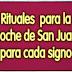 Rituales de San Juan para cada signo