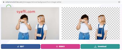 cara menghilangkan background putih online