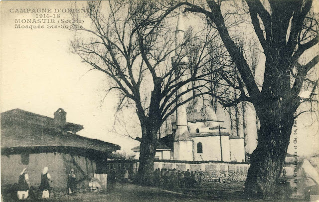 Mosque in Bitola. Interestingly, all the major mosques are designated by the name Hagia Sophia by the French publishers.
