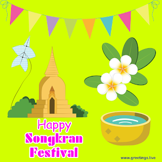 Songkran festival 2019 Greetings Images