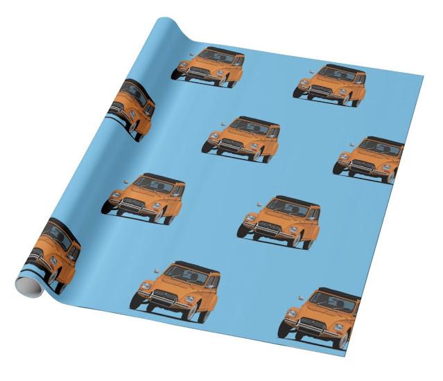 Citroën Dyane wrapping paper