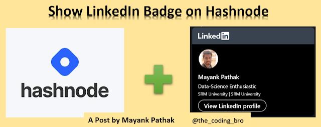 Connect your LinkedIn Badge on Hashnode