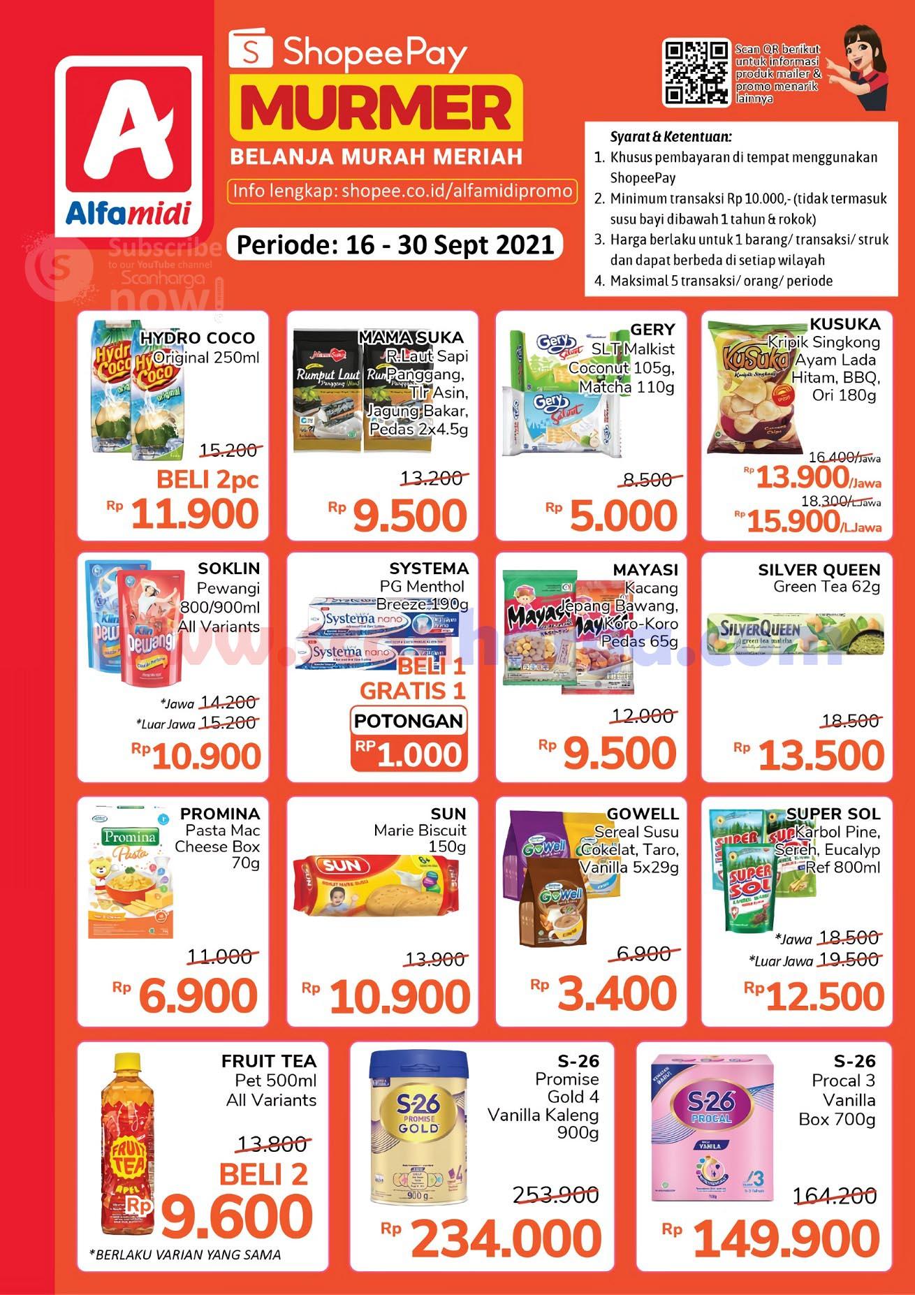 Promo Shopeepay Alfamidi Periode 16 - 30 September 2021