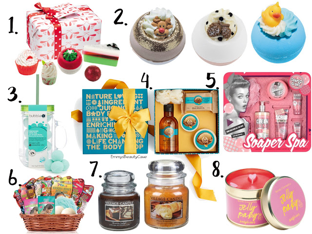 bath and pamper accessories, bomb cosmetics, pamper gifts