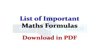Algebra Formulas for SSC