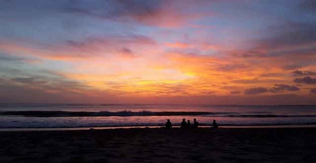 schönster Sonnenuntergang auf Bali