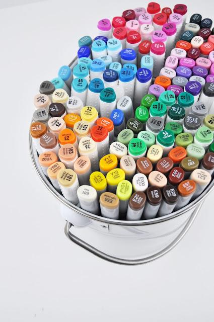 Copic marker storage by Jen Gallacher for www.jengallacher.com #copic #markers #coloring #jengallacher