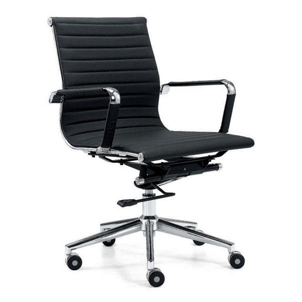 Chiếc ghế xoay văn phòng này sử dụng chất liệu sắt dày nguyên chất mạ crom không gỉ, khả năng chịu lực tốt đảm bảo an toàn cho người ngồi