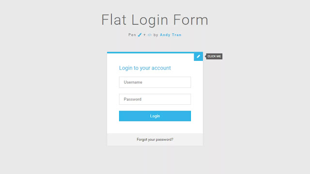 Flat Animated Login and Signup Form Design
