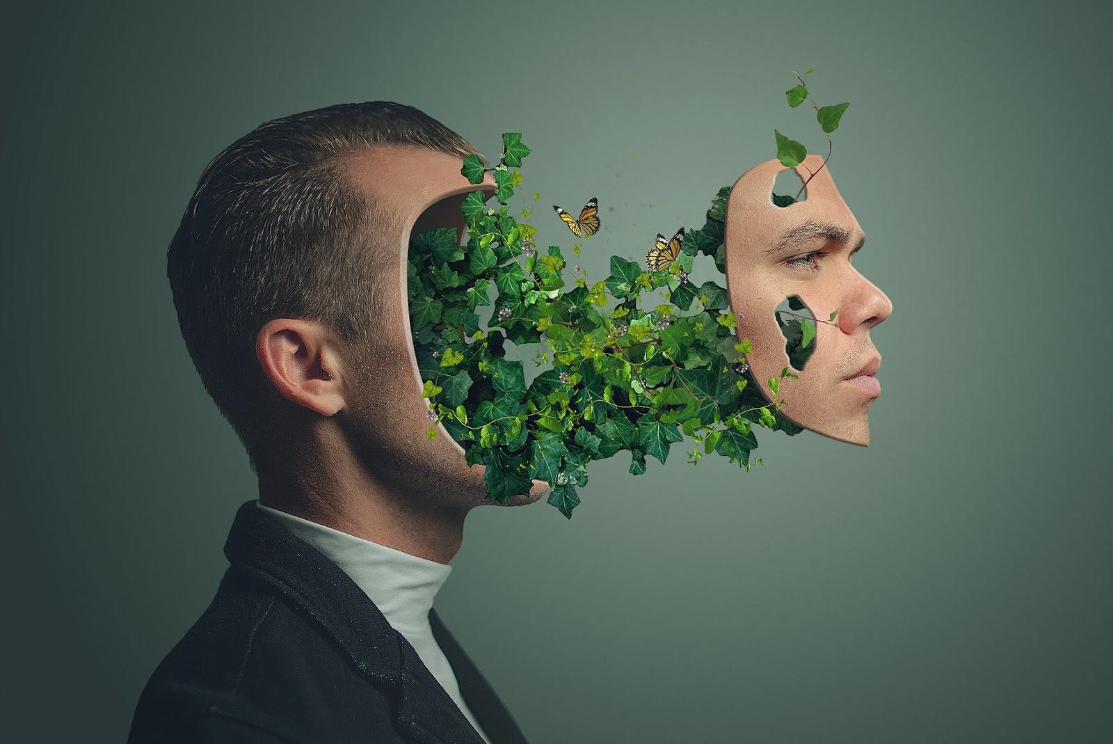 Plant Face Portrait Effect Photoshop Tutorial - rafy A