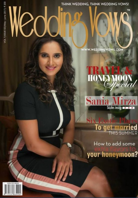 Sania Mirza On The Cover of Wedding Vows Magazine June 2017