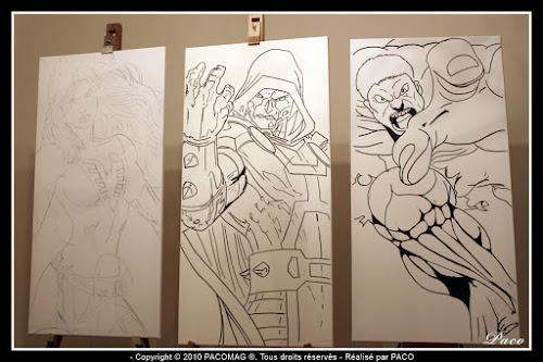 Dr. Fatalis ennemis des 4 Fantastiques,sur toiles par paco illustrateur graphiste artiste peintre