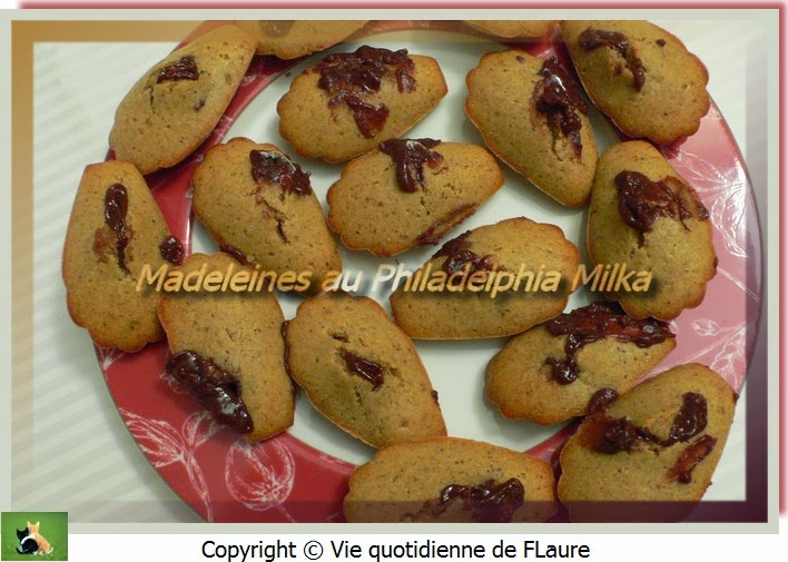 Vie quotidienne de FLaure: Madeleines au Philadelphia Milka