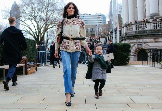 Vogue LFW Street Style - Hedvig Opshaug Gucci Belt