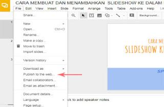 Cara Menambahkan Slideshow Ke Dalam Postingan Blog