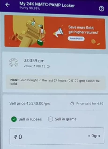 PhonePe Wallet to bank transfer