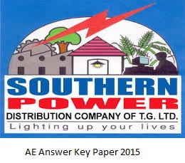 TSSPDCL Answer Key 2015 Solved Question Paper 2015