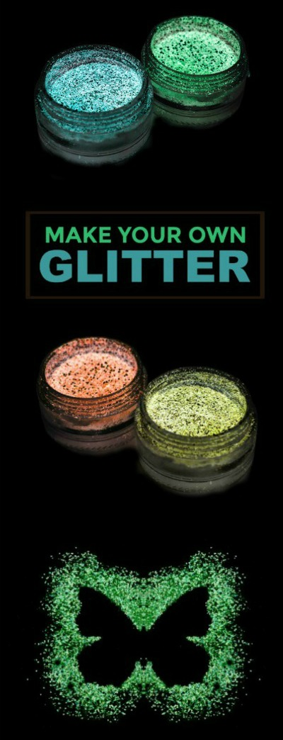 FUN KID PROJECT:  Make glitter that glows in the dark!