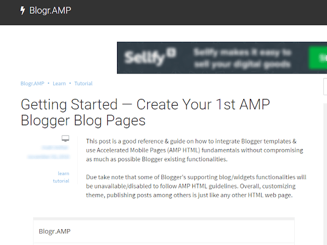 Google Blogger AMP HTML Template Displays Twice as Fast in Google Search