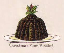 Christmas Plum Pudding, illustration from Mrs. Beeton's Book of Household Management (1861)