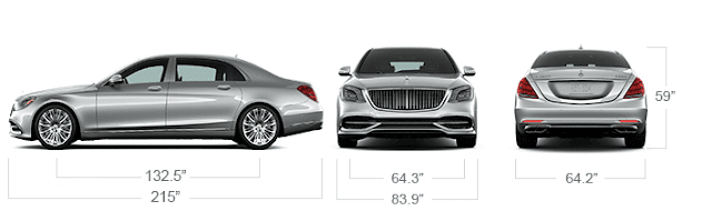 2019 Mercedes-Benz Maybach S650 dimensions