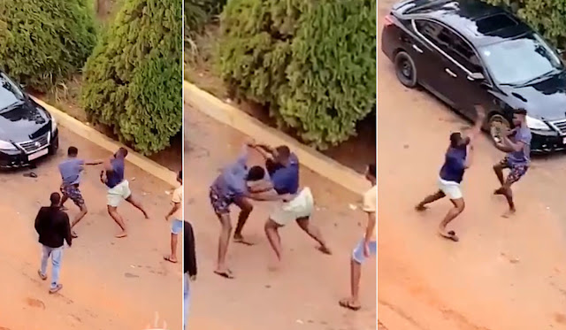 Drama As Two University Students Fights over a Girl (Video)