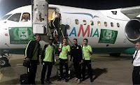 Atlético Nacional de Medellín (Colômbia) no avião da LaMia