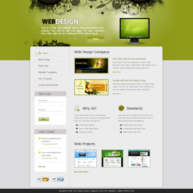Double-click and view Website Template
