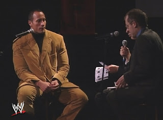 WWE Global Warning 2002: The Rock at a charity dinner