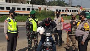 PPKM Mikro Diperpanjang, Polsek Nagreg Polresta Bandung Bersama Unsur Terkait Operasi Yustisi