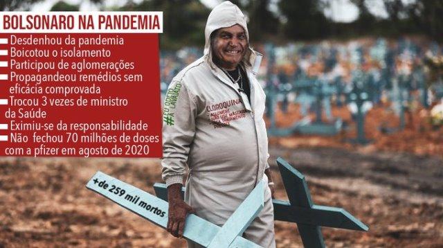 Postagem extraída da hashtag #BolsonaroCoveiroDoBrasil.