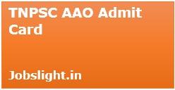 TNPSC AAO Admit Card 2017
