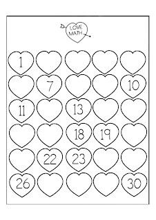 serie numérica del 1 al 30 para preescolar