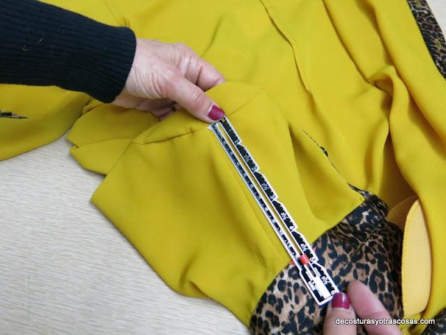 como medir hombro blusa
