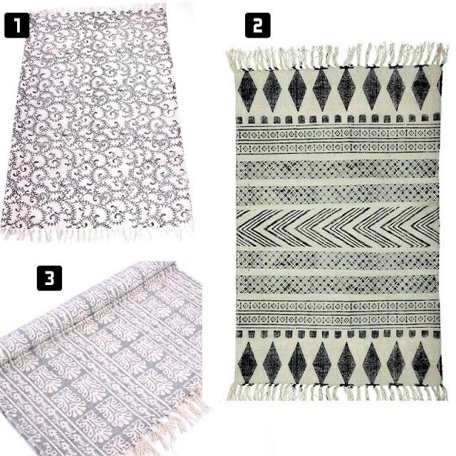 dywan w stylu skandynawskim, skandynawski dywan, dywan z frędzlami
