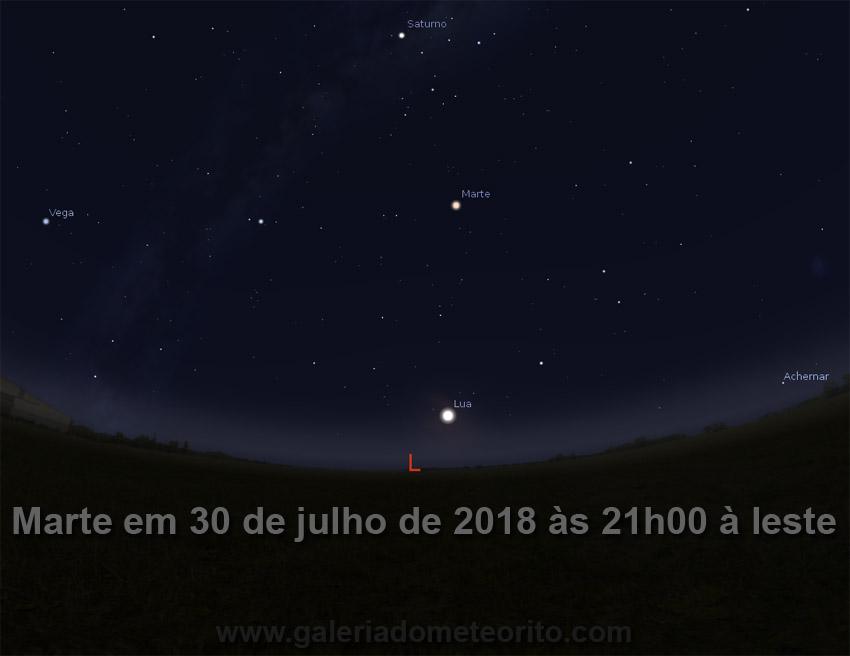 Marte Maior E Mais Brilhante Em Julho De 2018