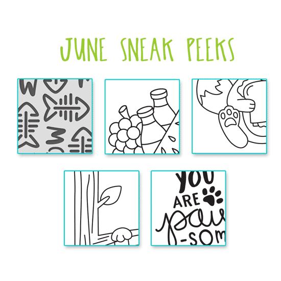 June 2019 Sneak Peeks! Newton's Nook Designs #newtonsnook
