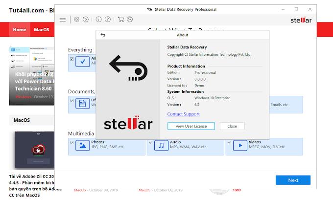 Lấy lại dữ liệu bằng Stellar Data Recovery 8.0