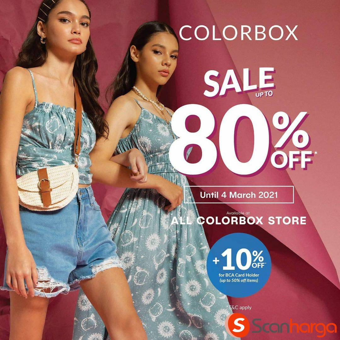 COLORBOX Sale up to 80% Off + 10% Off for BCA Card Holder