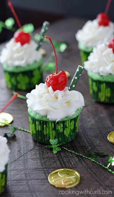 boozy shamrock shake cupcake recipe