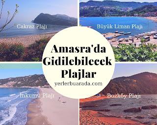 amasra'da gidilebilecek plajlar