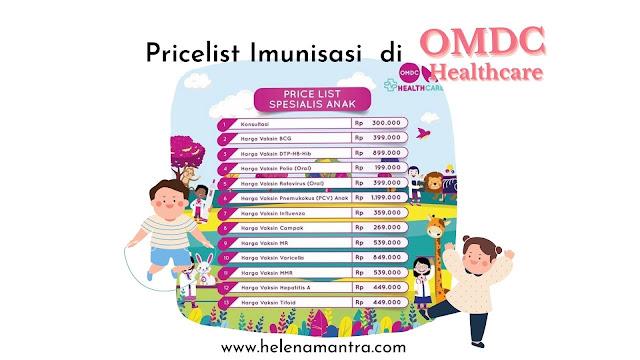 harga imunisasi omdc mampang