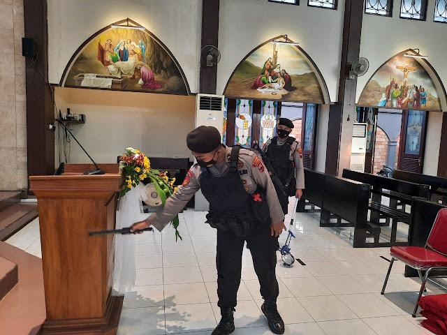 Pastikan Keamanan Minggu Paskah, Polisi Lakukan Sterilisasi